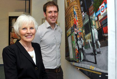Ark chairman Sandra Fell with artist Jonathan Chapman
