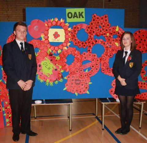 Oak House Captains Joe Rodger and Gabby Walker