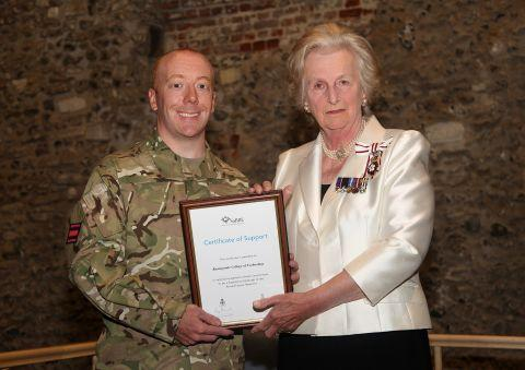 Basingstoke Gazette: Andy Chilton with Dame Mary Fagan