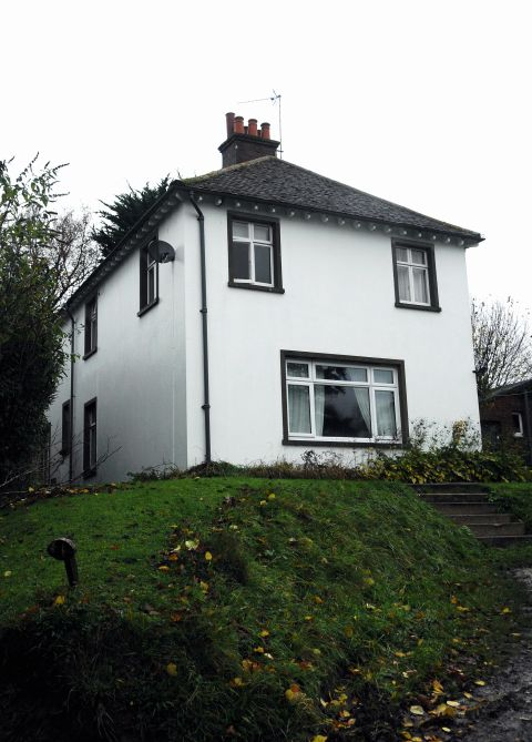 The house in Basingstoke Road, Ramsdell, where a wasps nest caught fire in the loft