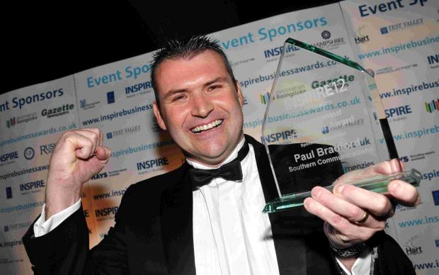 Paul Bradford wins Entrepreneur of the Year at INSPIRE12