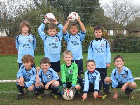 Goldsworth Park Rangers Under-Eight Lions in their new kits.