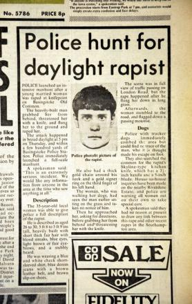 Flashback to The Gazette of Monday July 13, 1981, reporting on the hunt for the rapist.