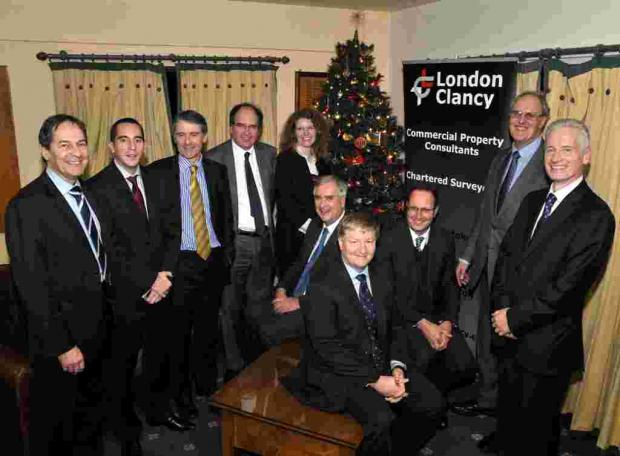 London Clancy directors and colleagues at Hartley Wintney Golf Club