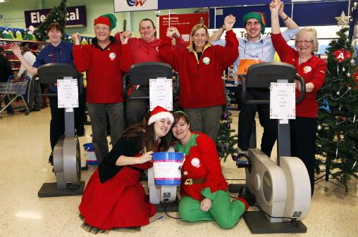Every little helps as Tesco staff 'cycle' to Lapland
