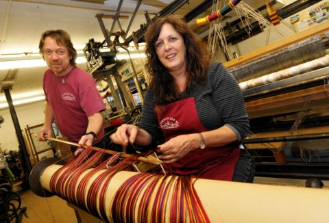 Celebration as silk woven at Whitchurch Mill
