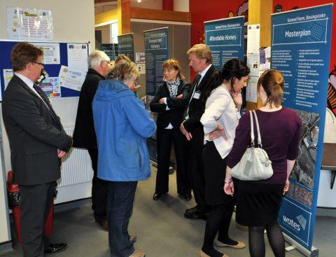 Wates Developments' public consultation for its plans for Kennel Farm held at Hatch Warren Community Centre in May