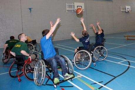 Wheelchair basketball, picture by Rebecca McKevitt