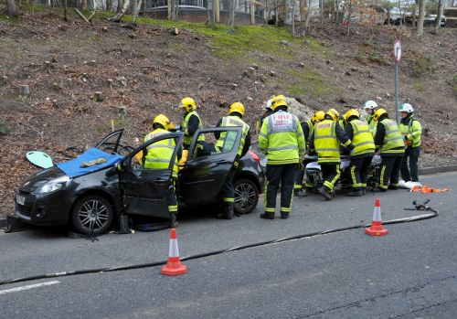 Images from Basingstoke accident