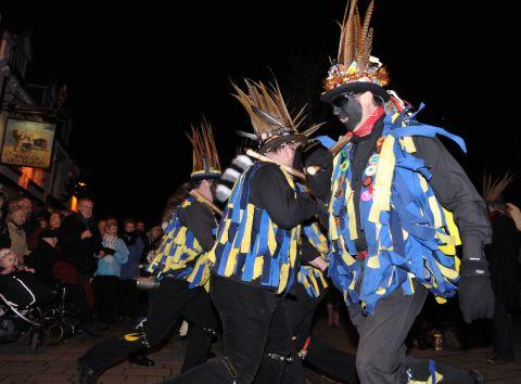 Hook Eagle Morris Men at the Hartley Wintney wassail