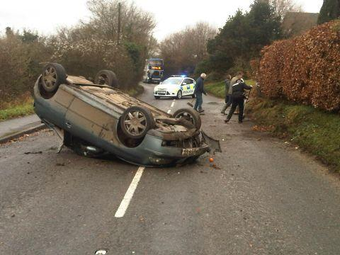 Man charged following crash on B3400 in Whitchurch