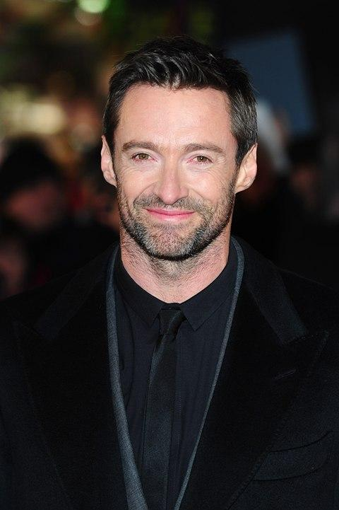 Hugh Jackman at the premiere of Les Miserables