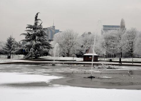 Basingstoke Gazette: A snowy scene at Eastrop Park taken last year.