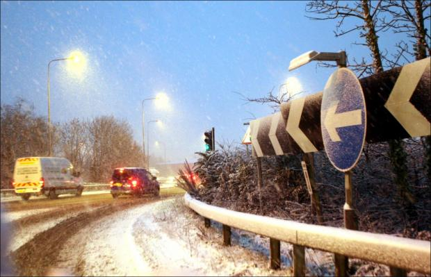 Snow on the M27