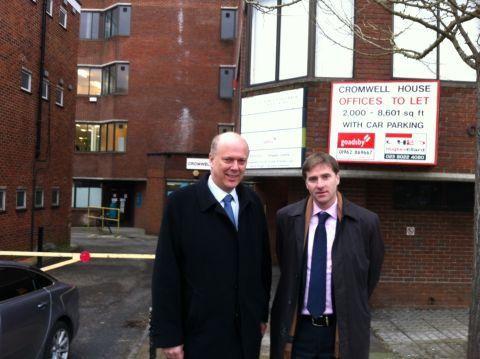 Chris Grayling with Steve Brine