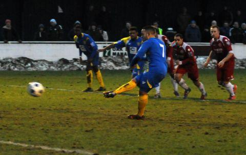 Wes Daly misses a last-minute penalty against Welling.