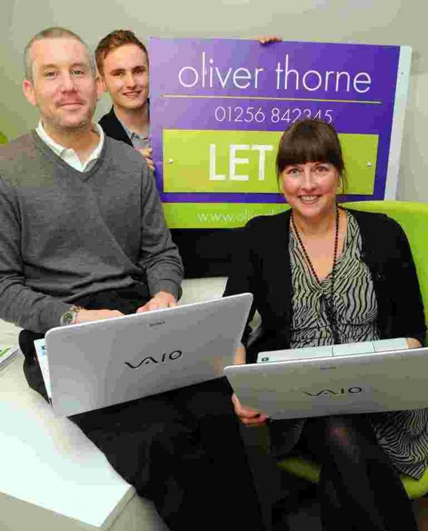 Directors Nick Thorn and Natalie Oliver, with lettings negotiator Jack Bateman in the centre