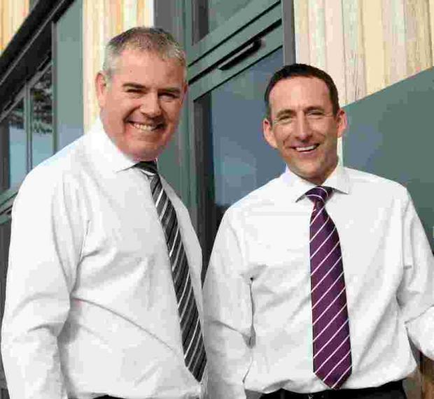 L-R: Chief operating officer Tim Payne with chief executive officer Adrian Pike