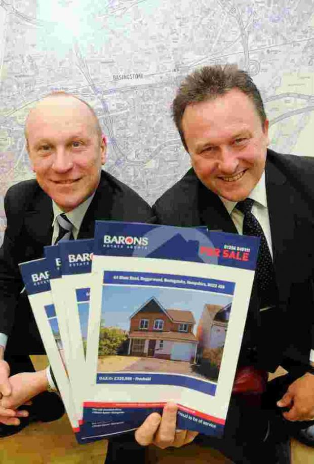 Kevin Penfold and Trevor Lee who co-founded Barons Estate Agents