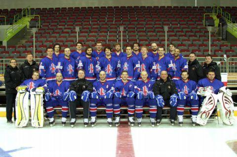 The Great Britain squad that travelled to Latvia for the qualifying tournament.