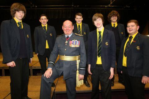 Senior RAF officer speaks at Basingstoke school