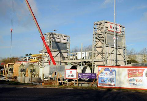 Key stage in building work for indoor skydiving centre