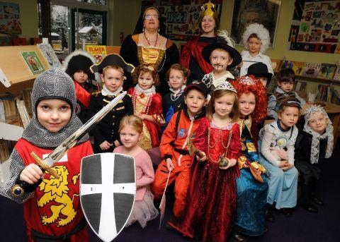 Children dress up as historical characters to celebrate Old Basing Infant School's 40th anniversary