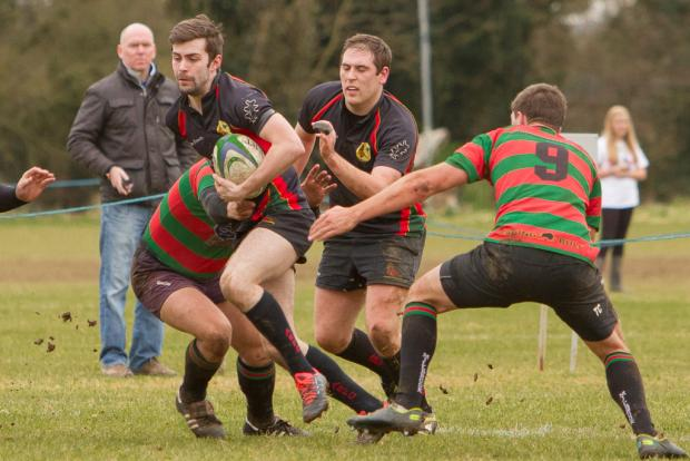 Action from Andover's win over Millbrook on Saturday at the Goodship Ground