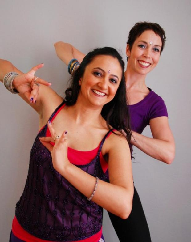 Just Jhoom! founder Shalini Bhalla with instructor Nathalie Cuzner