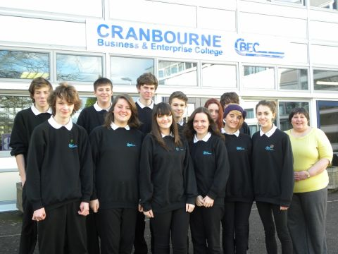 Cranbourne pupils who gained their bronze Duke of Edinburgh awards