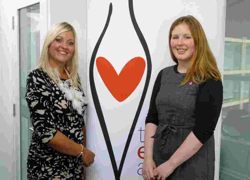 Vectair Systems marketing manager Louise Goldsmith meets Heather Ravenscroft from The Eve Appeal