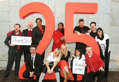 Celebrities celebrate 25 years of Comic Relief's Red Nose Day at the launch of the 2013 event