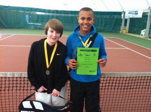 B sqaud winner Travis Clayton and runner-up Josh James.