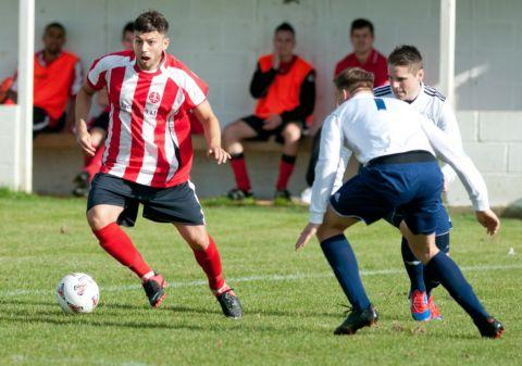Luke Walker scored Whitchurch's winner against Fleet Spurs.