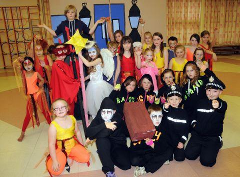 Pupils from Park View Junior School rehearse for rock challenge