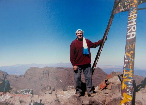 John Clement, from Old Basing, at the summit of Mount Kilimanjaro