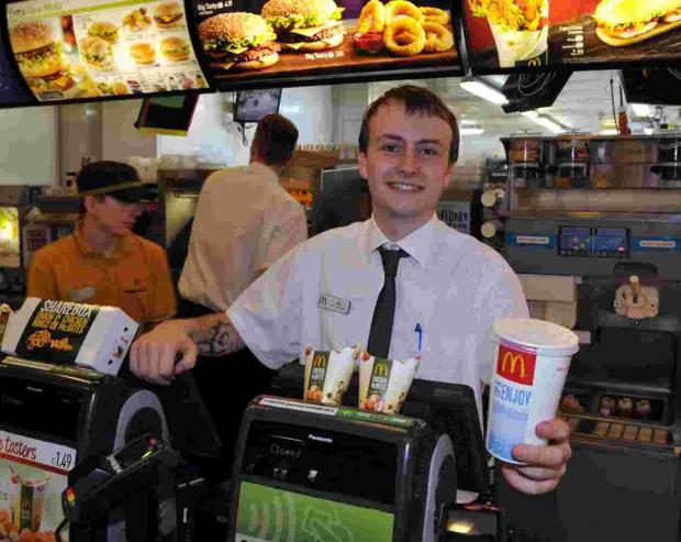 Jay Cripps, at McDonald's 24 hour restuarant at Basingstoke Leisure Park