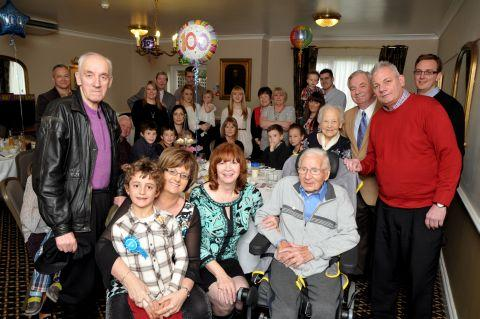 William Joyce celebrates his 100th birthday with family and friends