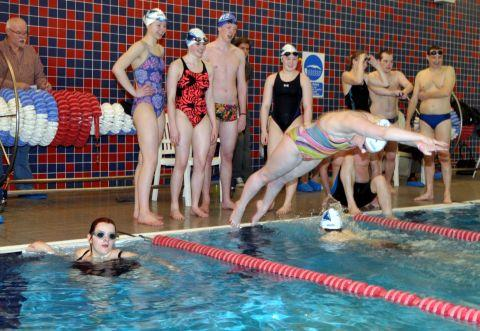 Basingstoke Lions organised a swimathon to raise money
