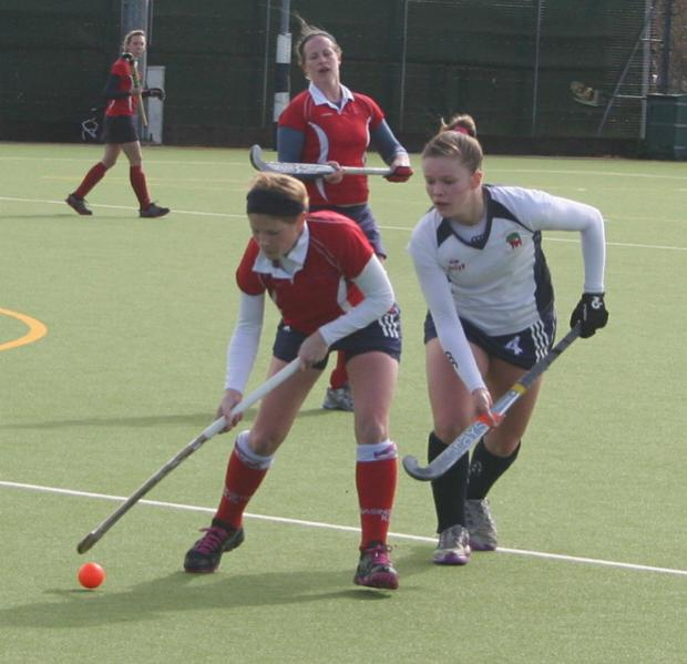 Andover Ladies in action during their match with Basingstoke which saw them crowned as league champions