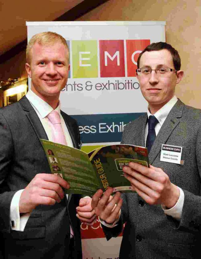Adam Corbally with Matthew Larcome, from Memo Events