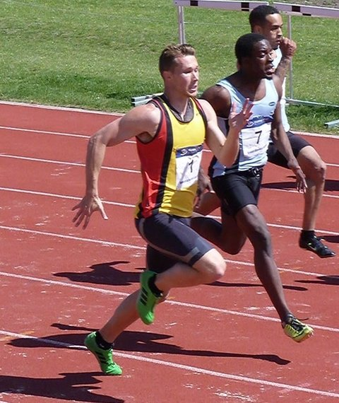 Dean Showler-Davis won both the 100m and 200m for Basingstoke and Mid Hants