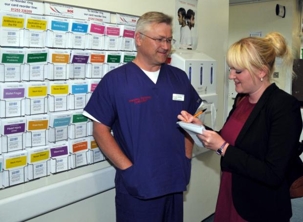 Basingstoke Gazette: Gazette health reporter Helen Morton talks to Dr John Kitching