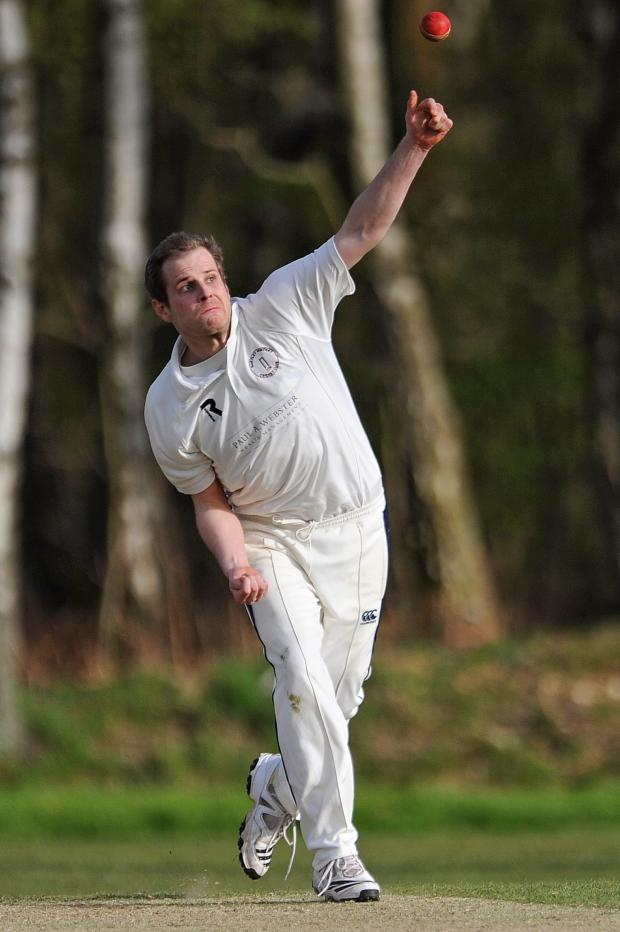 Basingstoke Gazette: Mark Teale took four wickets for Hartley Wintney last week