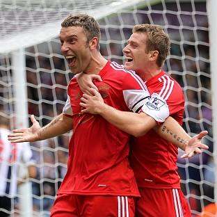 Basingstoke Gazette: Rickie Lambert was on target from the spot for Southampton to follow up his international heroics from midweek