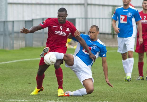 Basingstoke Gazette: Opener: Julian Owusu opened his Carshalton Athletic account at Bognor            SP73085-16