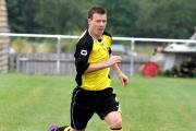 Brett Denham scored twice in Tadley's shock win over Fleet Town