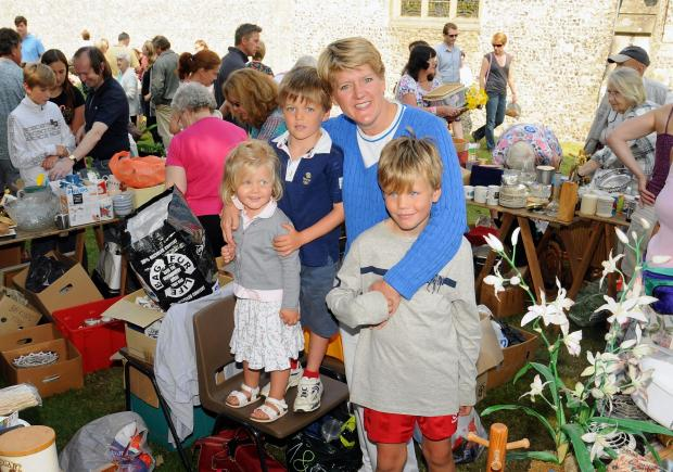 Basingstoke Gazette: Clare Balding (centre) at St Mary's Church Fete