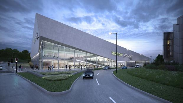 An artist's impression of the planned new John Lewis at home amd Waitrose store, in Basing View