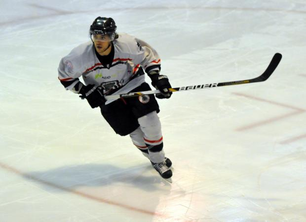 Andy Melachrino scored twice for the Bison